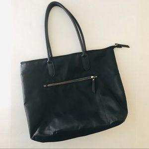 NWOT Black Nylon Tote Shoulder Bag